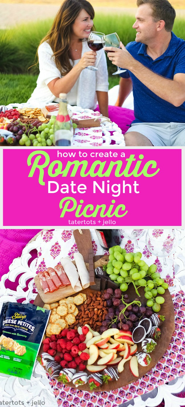How to create the perfect romantic picnic. From fruits, cheeses, nuts and even the perfect cracker. Plus a free invitation tag!