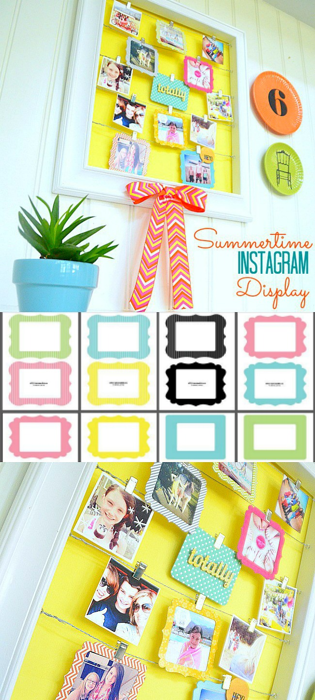 Print out your Instagram pictures and put them in printable frames. Create a DIY Instagram Display! You will love looking at the special memories and moments.