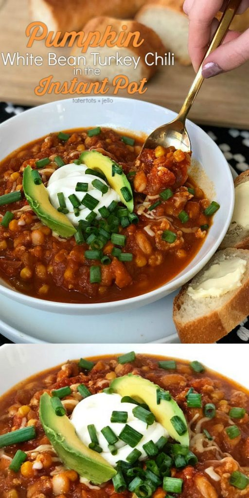 Pumpkin White Bean Turkey Chili is the perfect Fall meal. Based on an award winning pumpkin chili that I've made for years, but faster in the Instant Pot!