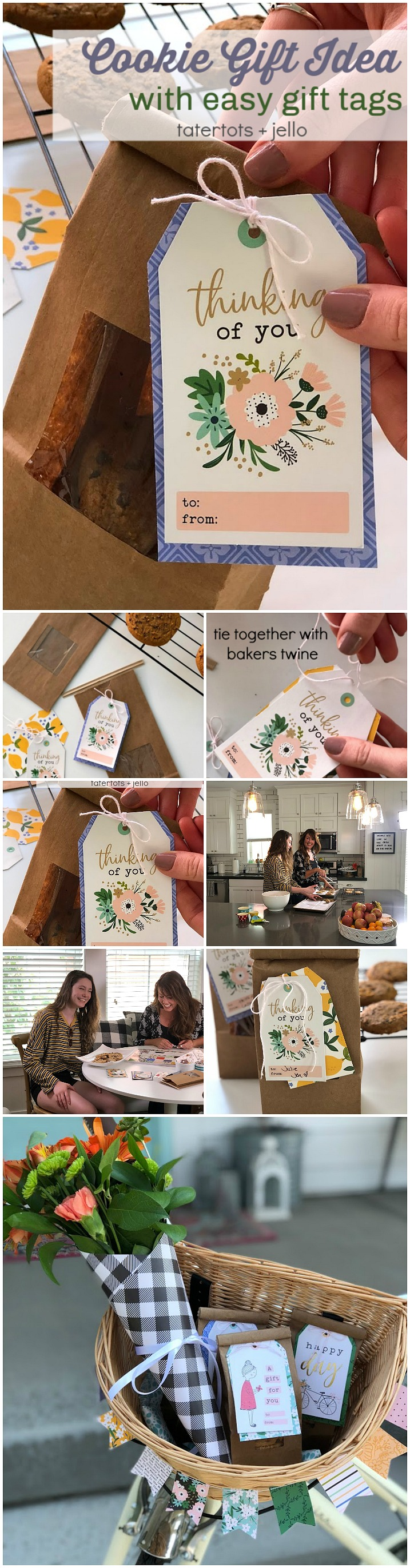 Cookie gift idea with easy handmade gift tags
