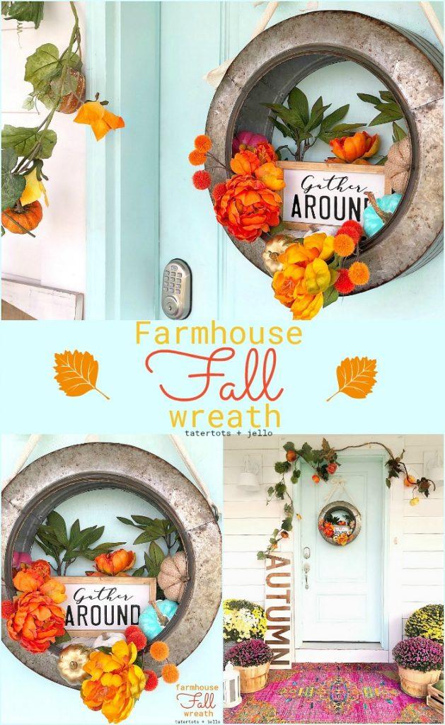 farmhouse metal wreath