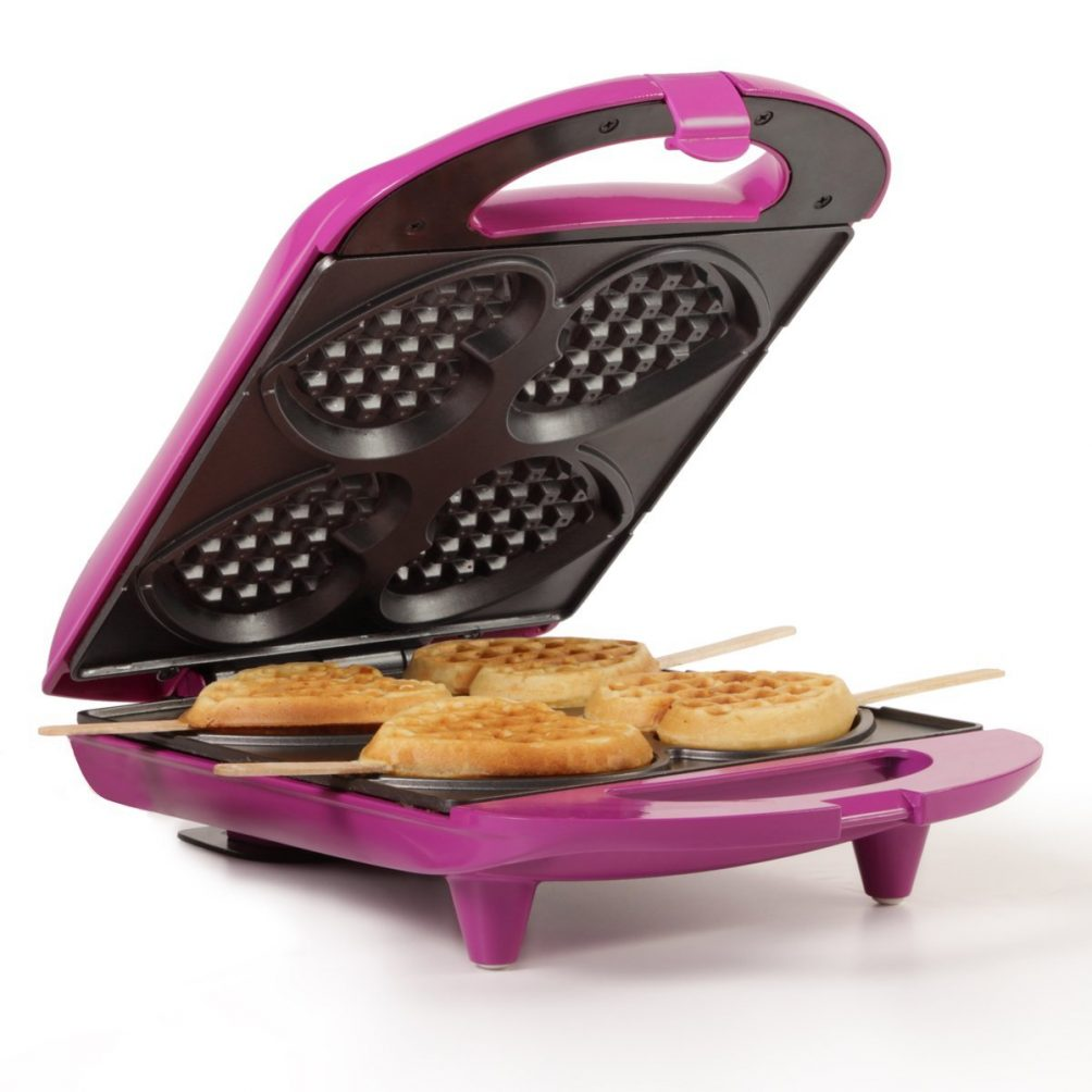 our favorite waffle iron. The mini heart waffles are so cute!