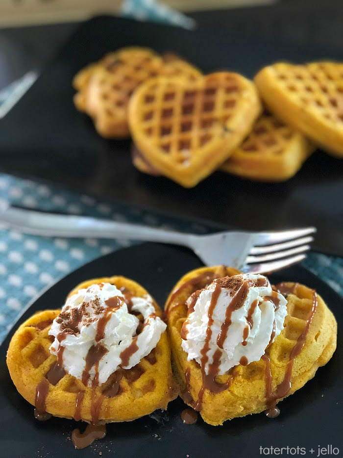 The easiest pumpkin spice waffles. Pumpkin-flavored recipe embody the feeling of fall. Pumpkin Spice Waffles are light, fluffy and filled with pumpkin pie taste! Top them with whipped cream and even some Dulce de Leche topping for a delightful way to welcome Autumn!