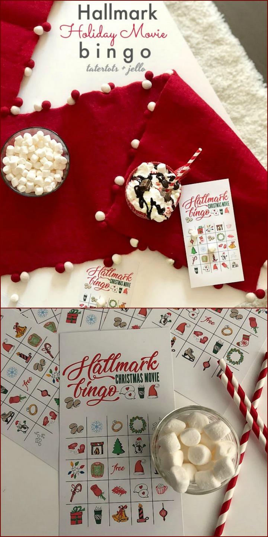 free Hallmark Channel holiday BINGO game
