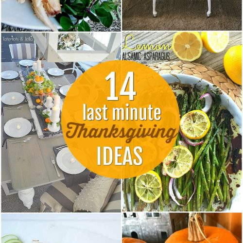 Last-minute Thanksgiving ideas. No need to stress, Thanksgiving is easy with these 14 fast and simple ideas!