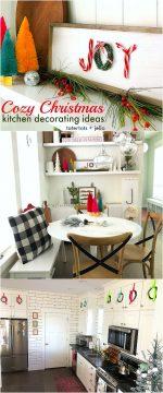 Cozy Christmas Kitchen Nook Decorating Ideas!
