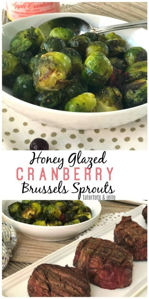 honey glazed cranberry brussel sprouts