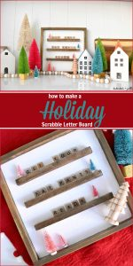 How to Make a Scrabble Letter Board