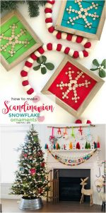 How to Make Holiday Scandinavian Wood Snowflake Ornaments