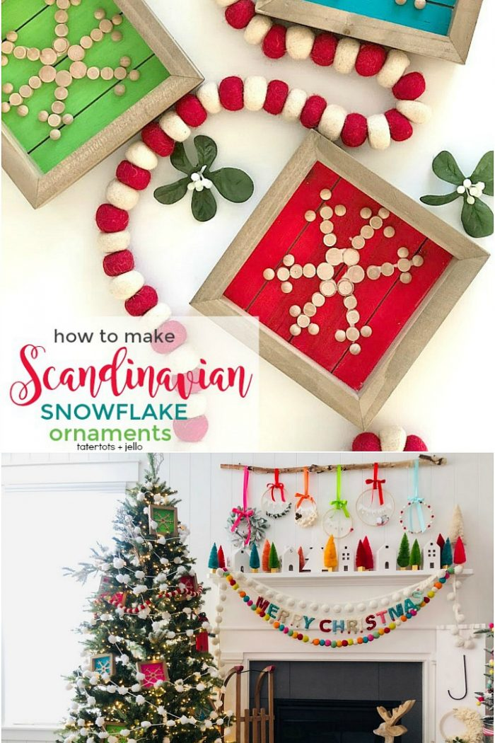 How to Make Holiday Scandinavian Wood Snowflake Ornaments