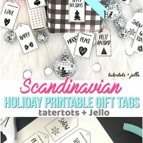 candinavian-style black and white holiday printable tags. 12 free black and white holiday gift tags that you can print off and add to your packages this holiday season!
