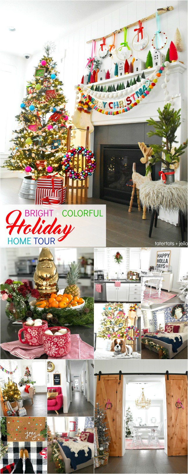 Bright And Colorful Holiday Home Tour Diy Project Ideas