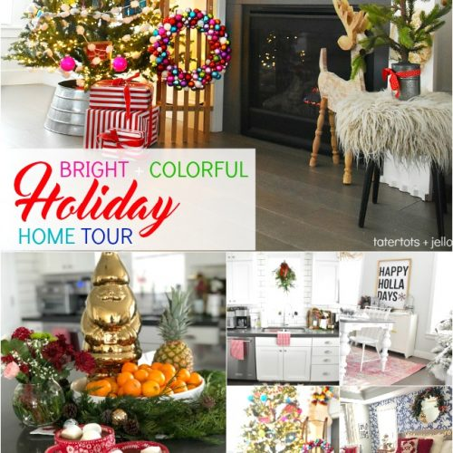 Bright and Colorful Holiday Home Tour. Easy ways to celebrate the holidays with color. Simple DIY ideas you can make for your home!