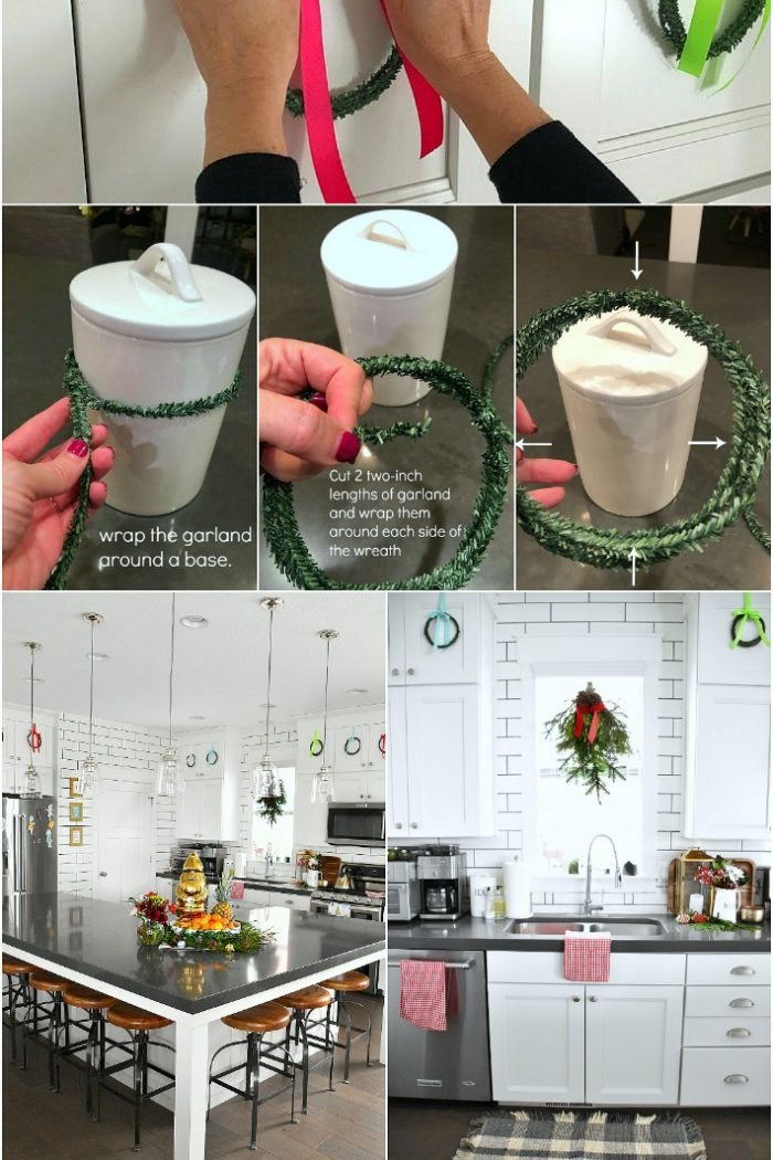 How to make Mini Kitchen Cupboard Wreaths for less than a Dollar