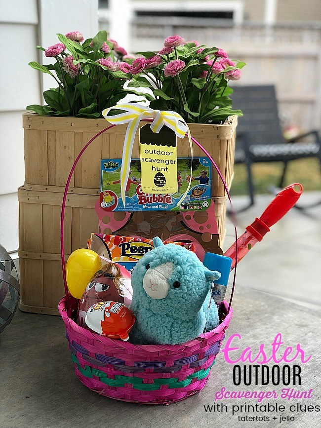 Kids Outdoor Easter Scavenger Egg Hunt