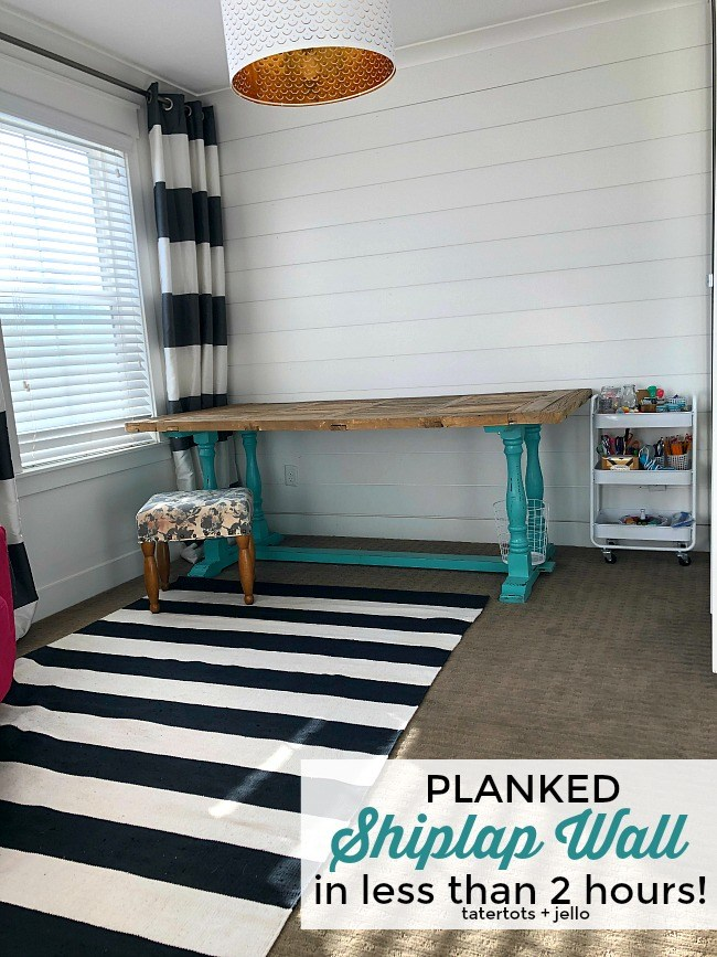 How to Plank Shiplap Walls in Under 2 hours