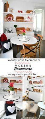 Four Ways to Create a Modern Farmhouse Eating Nook