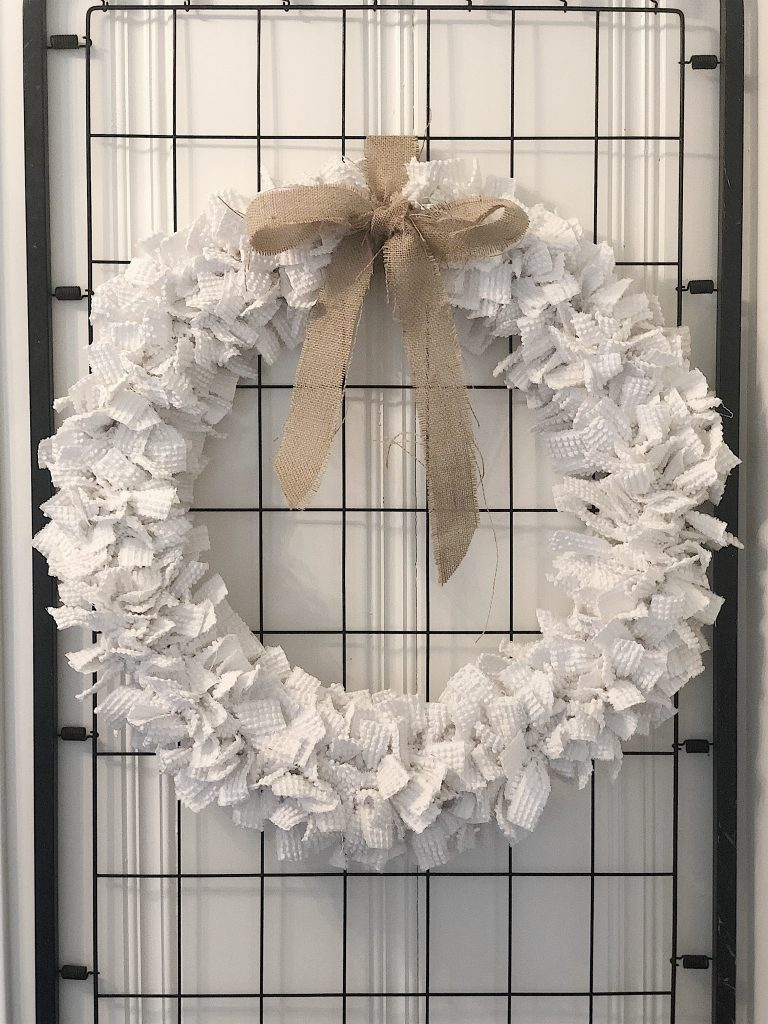 Winter Chenille wreath tutorial