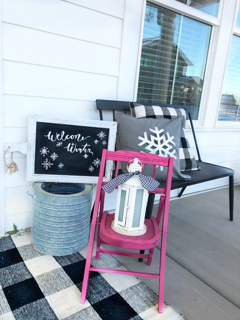 snowflake winter porch