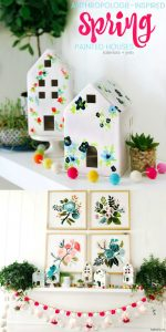 Spring Anthropologie-Inspired Painted Houses