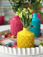 Anthropologie-Inspired Colorful Spring Vases DIY