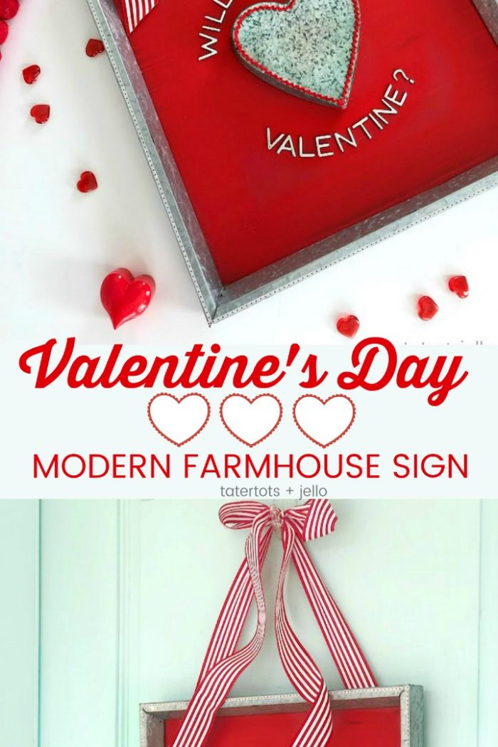 Valentine's Day Modern Farmhouse Heart Sign