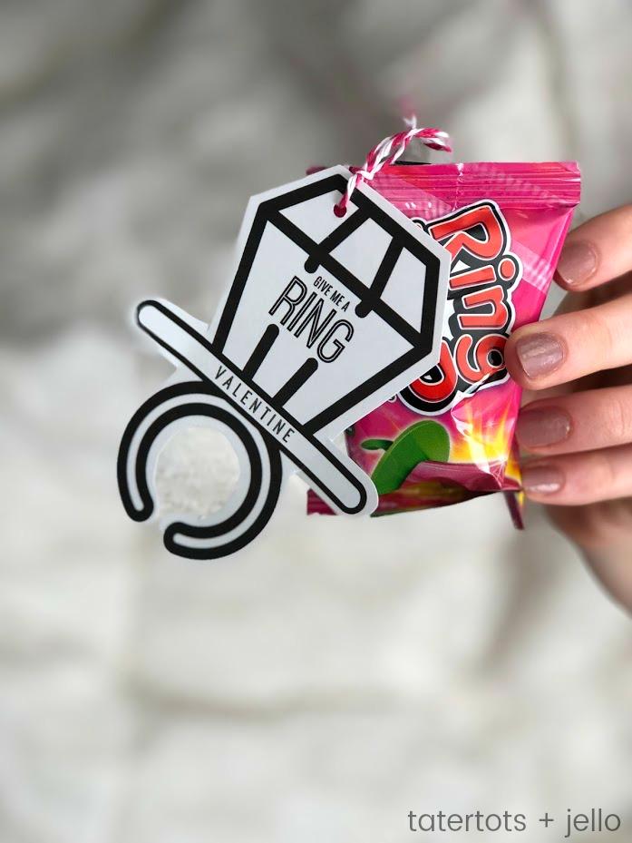 free valentine's day teen tween ring pop printable gift idea