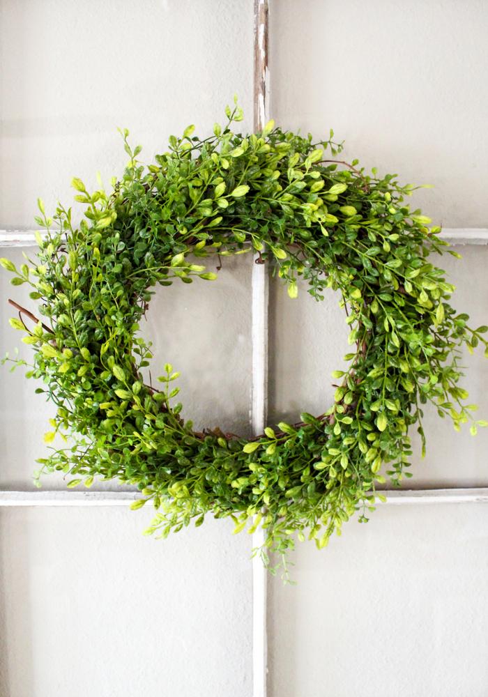 Boxwood green wreath