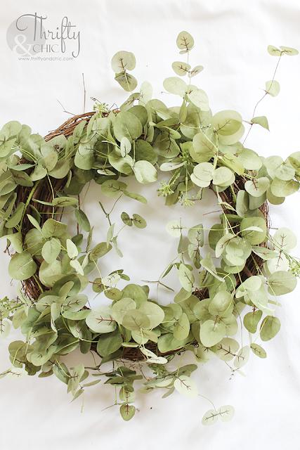 green fresh spring wreath