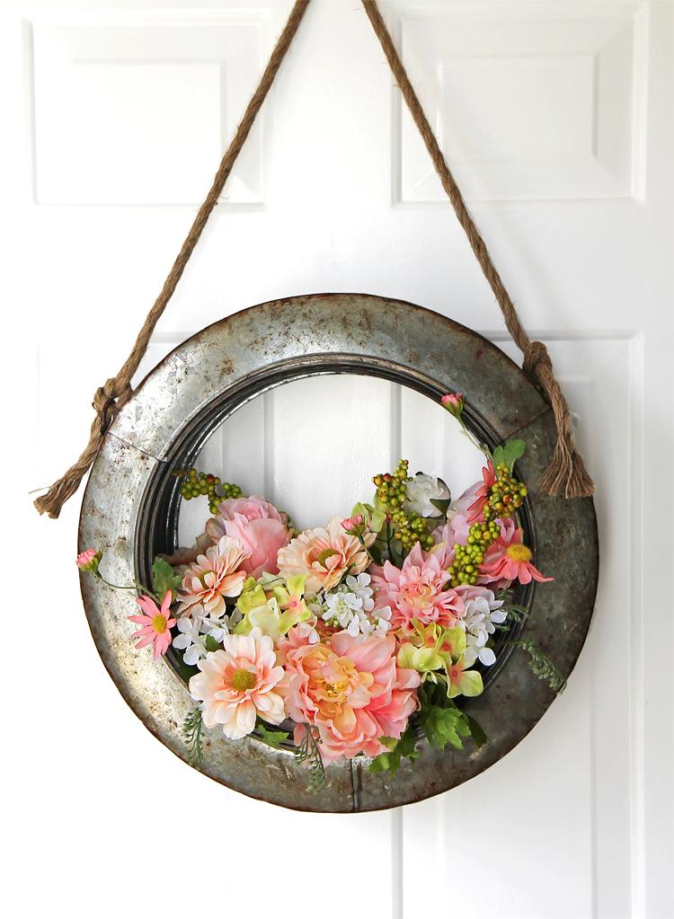 farmhouse flower wreath