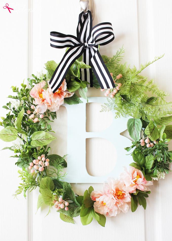 Botanical spring wreath