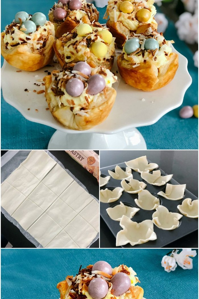 Robin Nests with Whipped Cream Filling for Easter and Spring!
