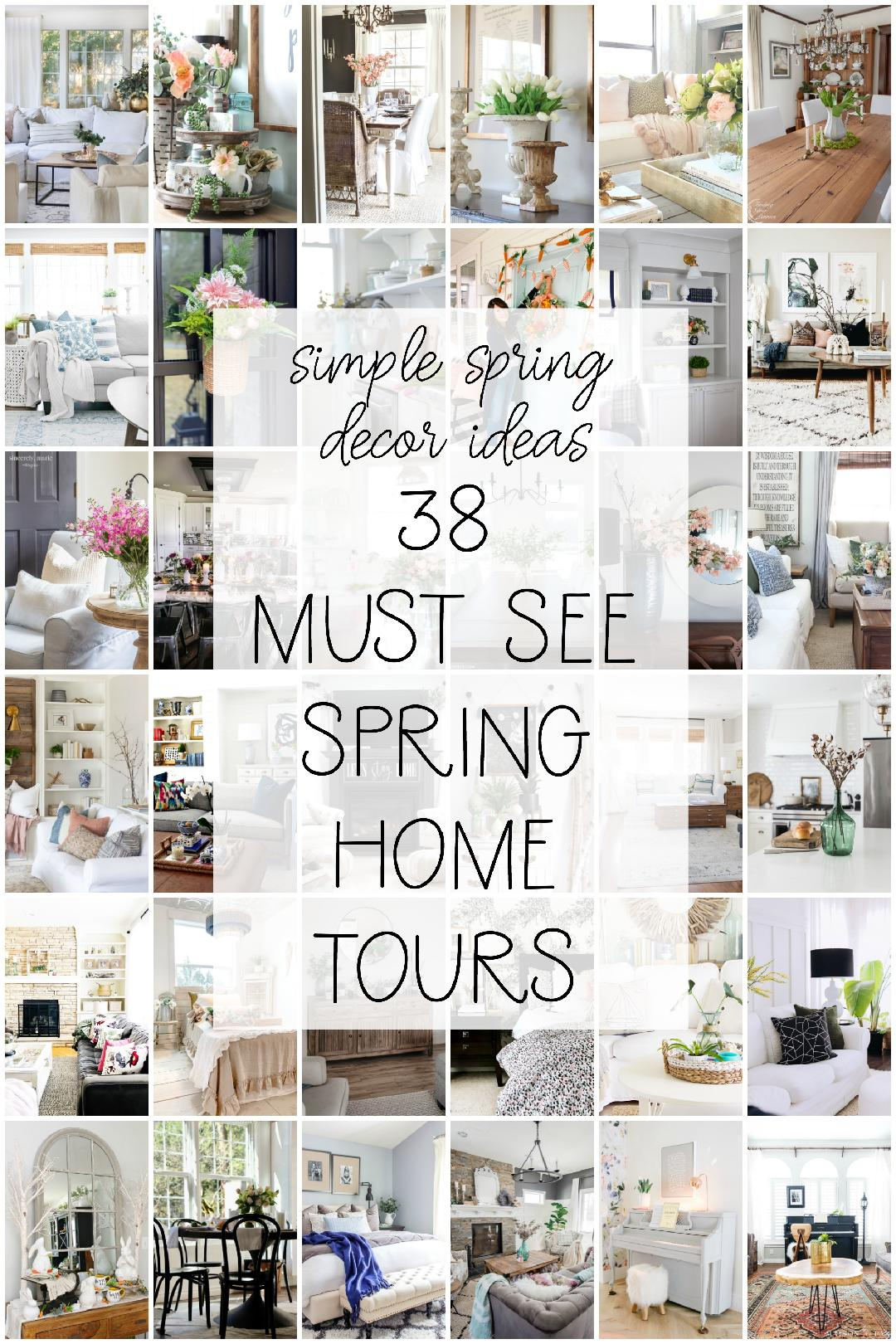 Colorful and Bright Spring Home Tour. Easy and inexpensive DIY ideas to bring COLOR into your home this Spring.
