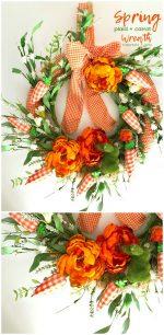 Layered Spring Plaid Wreath + 27 more DIY Spring Wreaths!