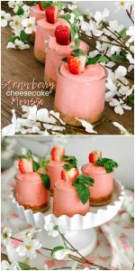 Fluffy Strawberry Cheesecake Mousse Trifles