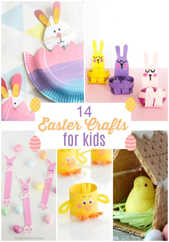 14 Easter Crafts for Kids! Colorful, easy and fun -- Your kids will love making these Easter crafts to celebrate Spring!