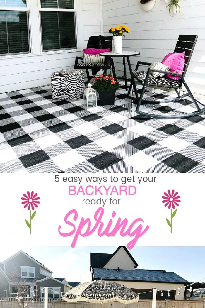 5 Easy Ways to Get Your Backyard Ready for Spring!