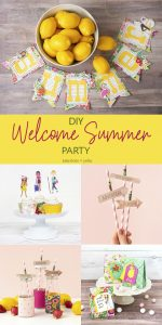 Throw a Bright and Happy Summer Party – DIY Banner, Party Favors and More!