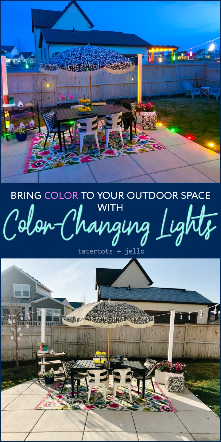 Add Color to Your Outdoor Space with Color-Changing Lights! Enbrighten Color Changing Seasons Cafe and Seasons Mini Landscape Lights are easy to install and with 120 possible color combinations, they are the perfect way to add color to ANY occasion.