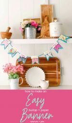 DIY Scallop Paper and Burlap Banner with Free Templates!
