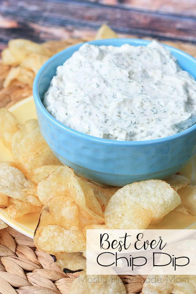 Best Ever Chip Dip @ Mostly Homemade Mom