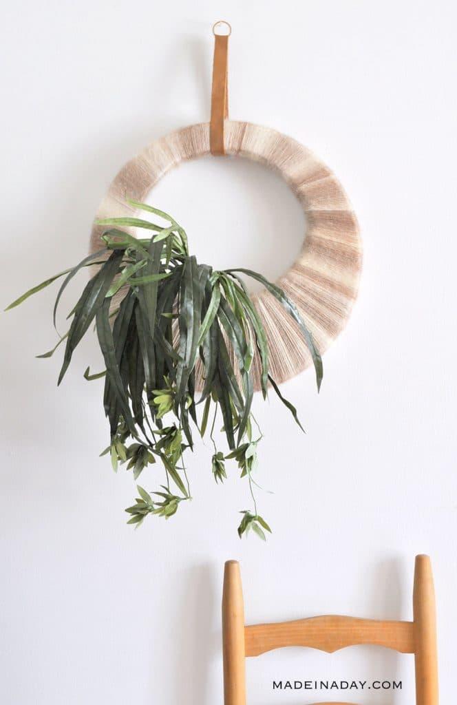 Boho Tropical Plant Wreath
