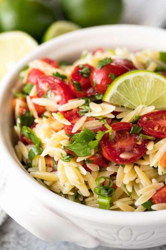 Cilantro Lime Orzo Pasta Salad @ The Stay At Home Chef