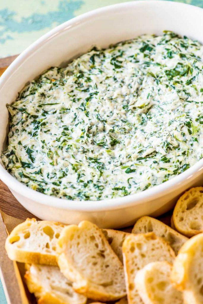 Creamy Spinach Dip & Homemade Hooplah