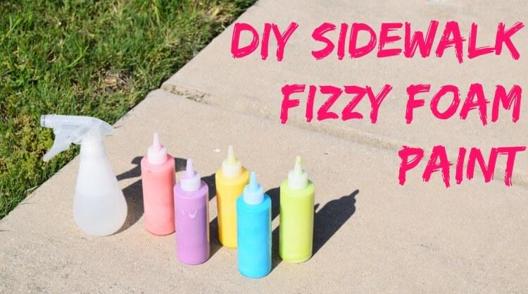 DIY Sidewalk Fizzy Foam Paint