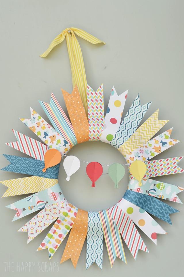 Hot Air Balloon Summer Wreath