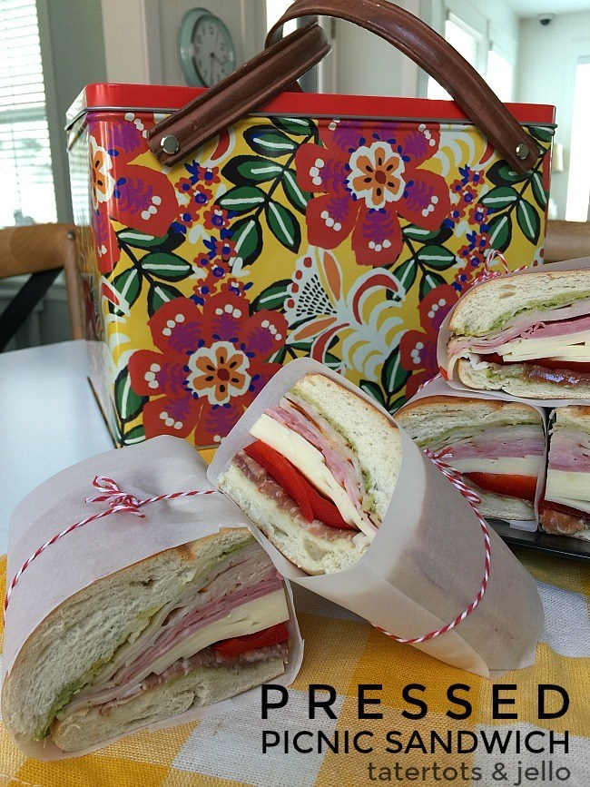 Make A Pressed Picnic Sandwich This Summer @ Tatertots & Jello