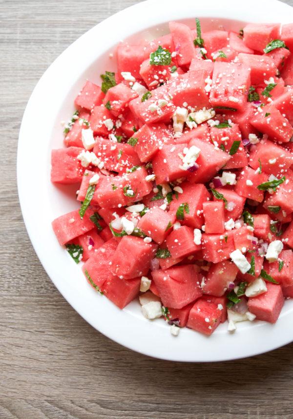 Watermelon, Feta, and Mint Salad @ Get Healthy