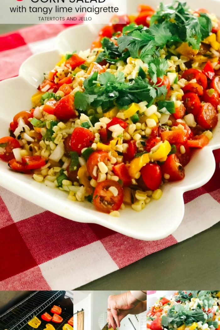 Grilled Corn Salad with Tangy Lime Vinaigrette