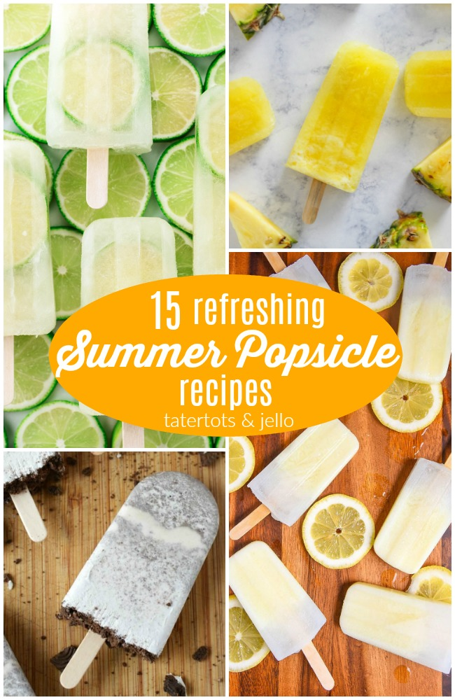 15 Refreshing Summer Popsicle Recipes! Popsicles are the perfect treat in this warm summer heat, and they're so easy to make!